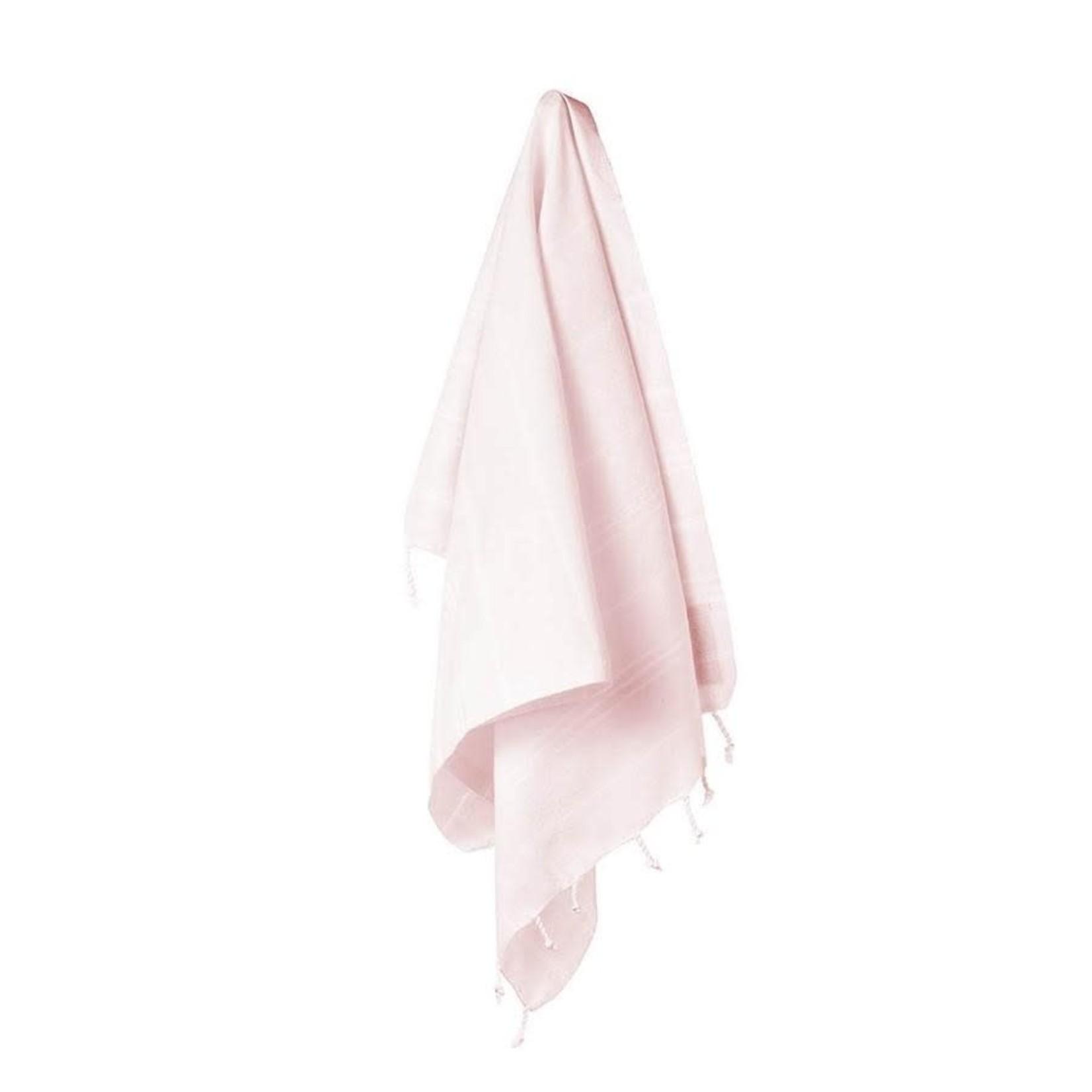 STRAY + WANDER MARIN SMALL TOWEL - POWDER PINK