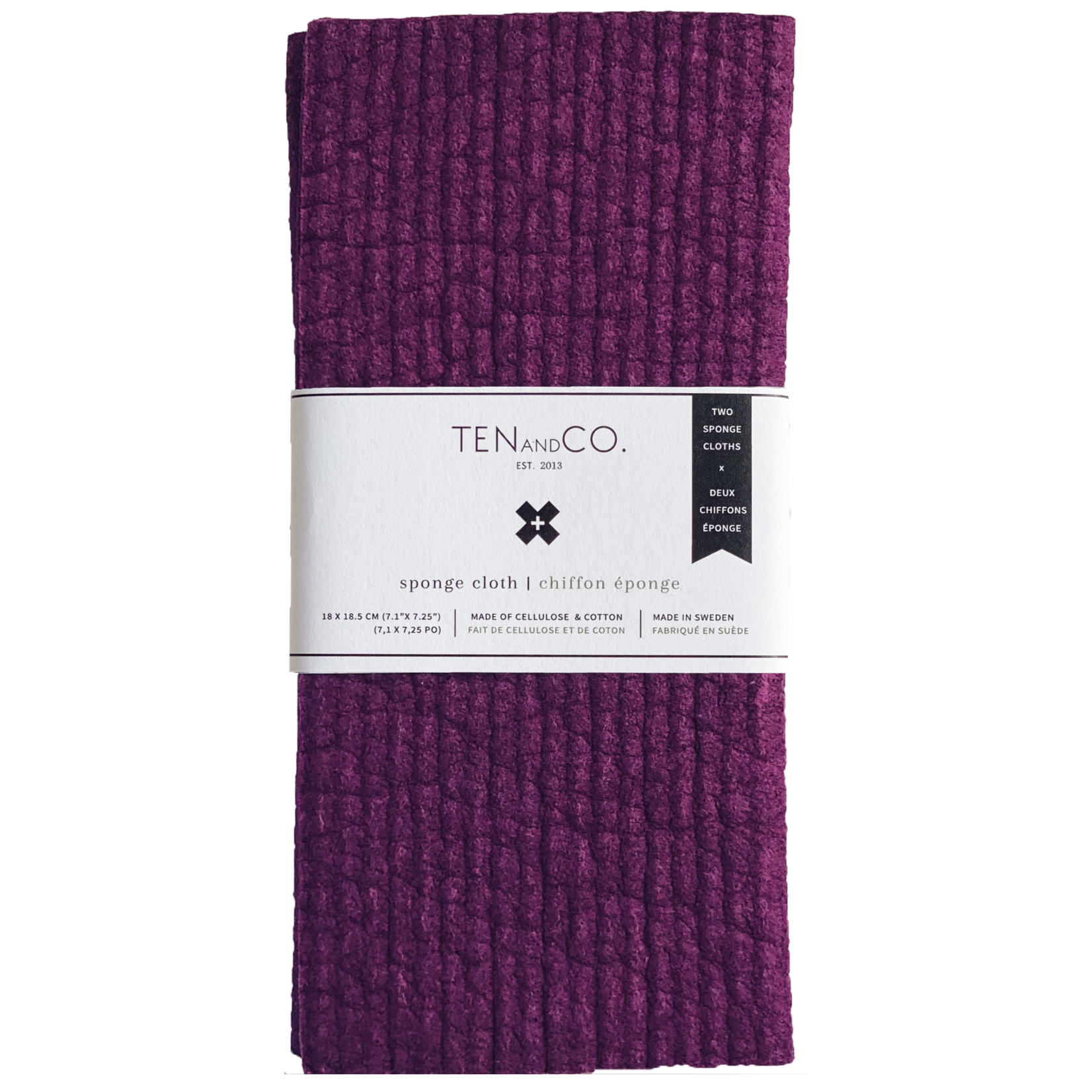 TEN AND CO. SOLID SPONGE CLOTHS 2 PACK