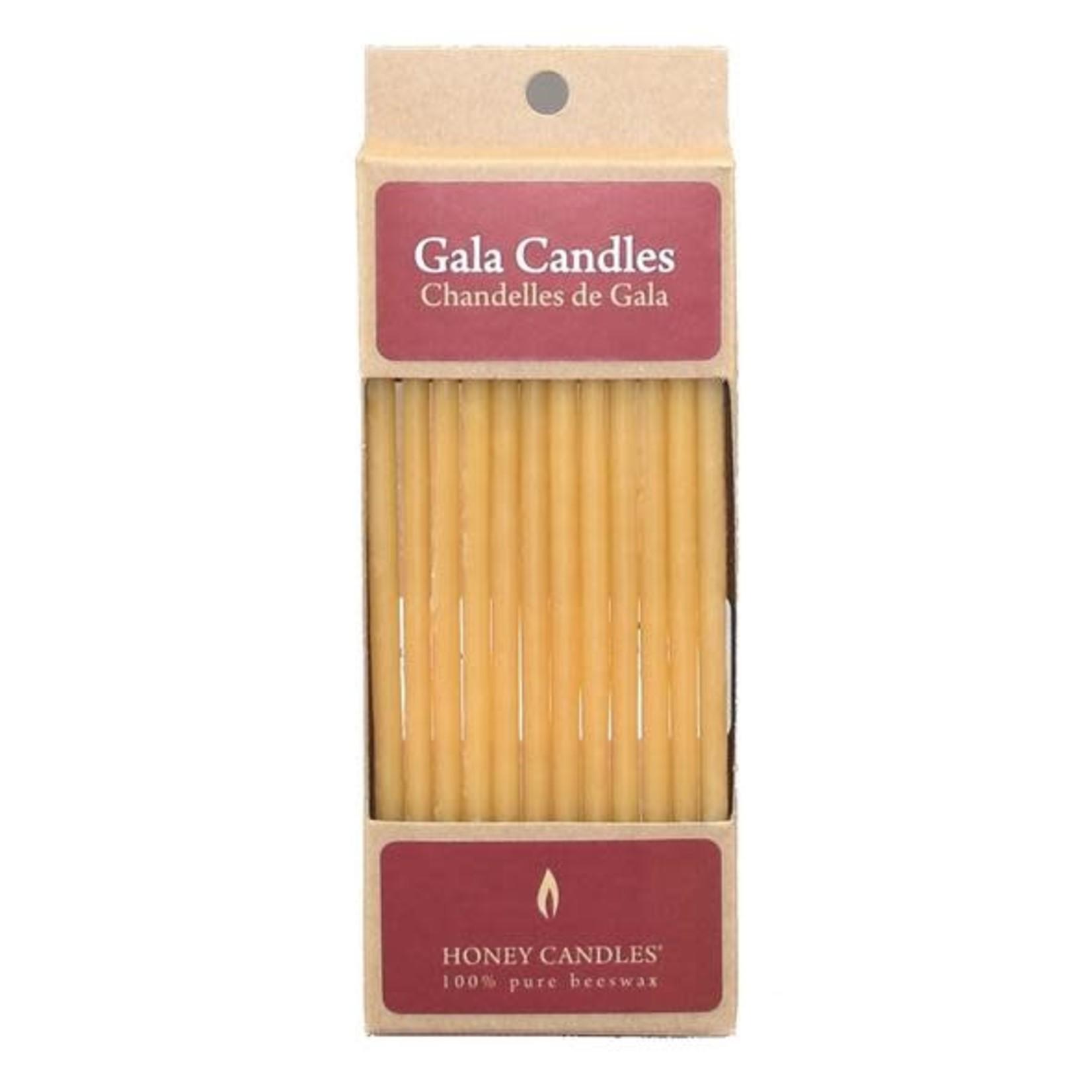 HONEY CANDLES GALA BEESWAX CANDLES - NATURAL
