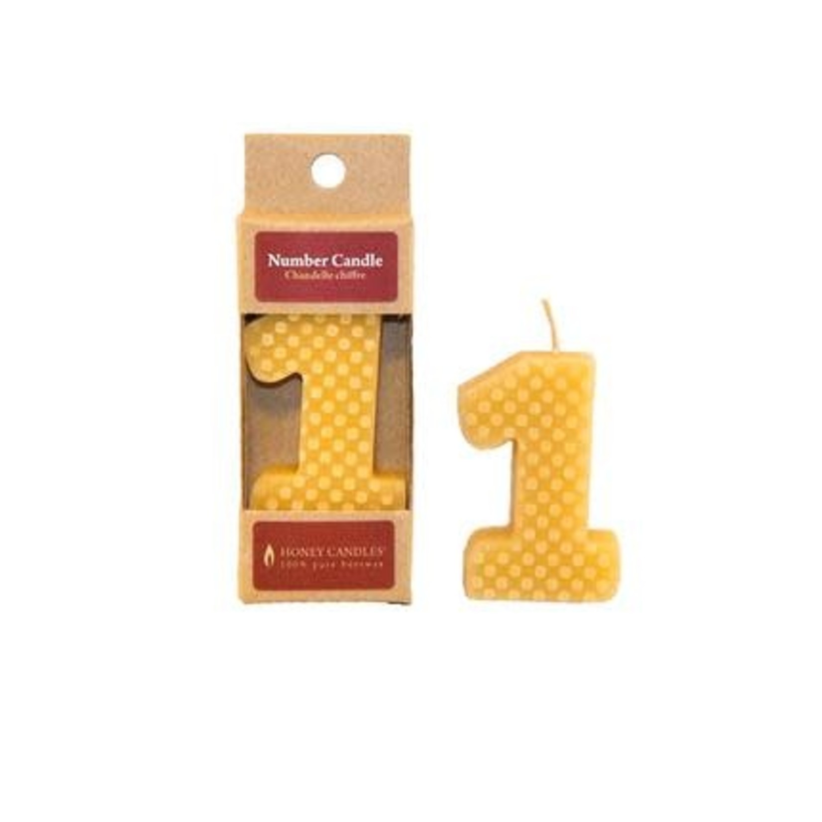 HONEY CANDLES NUMBER 1 BEESWAX CANDLE