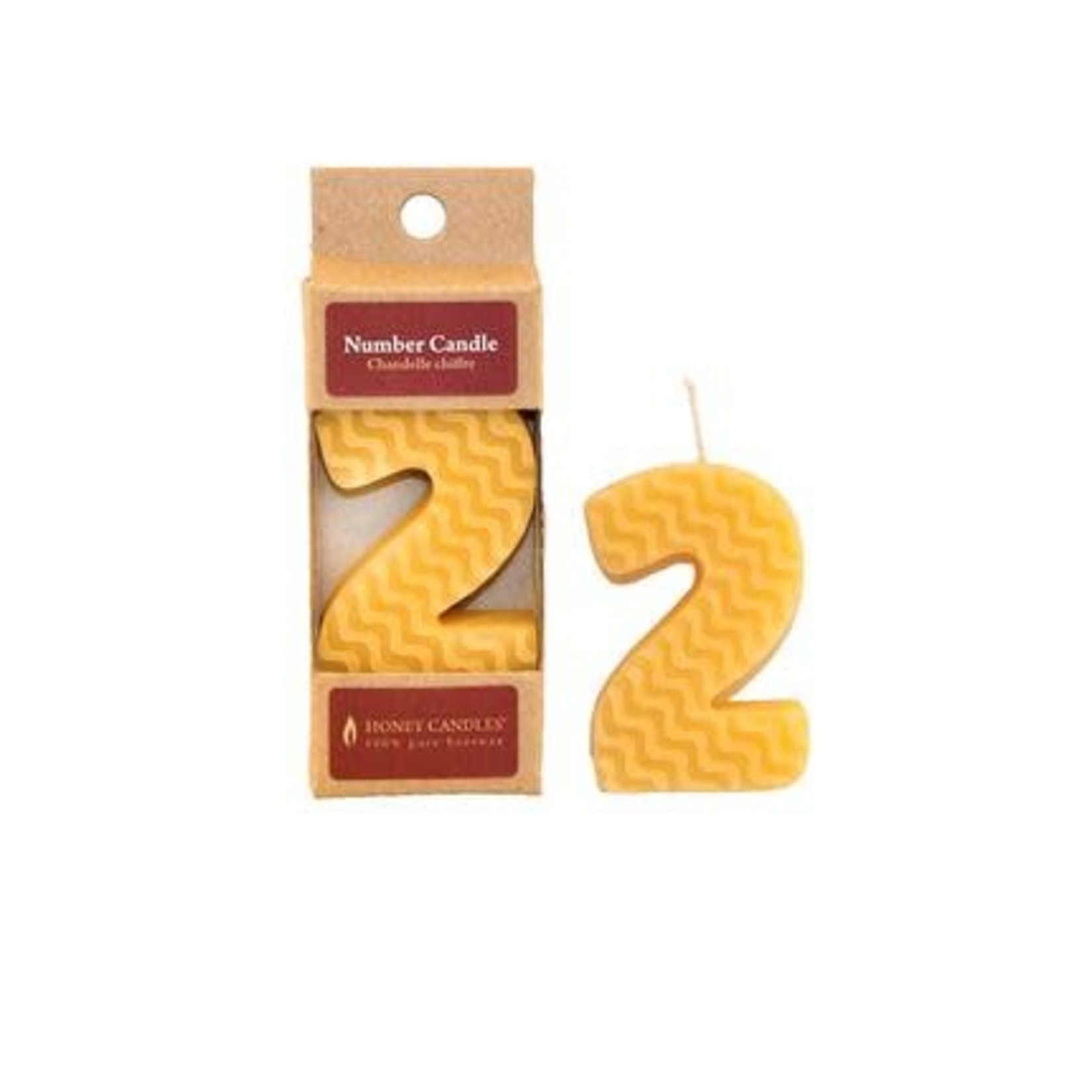 HONEY CANDLES NUMBER 2 BEESWAX CANDLE