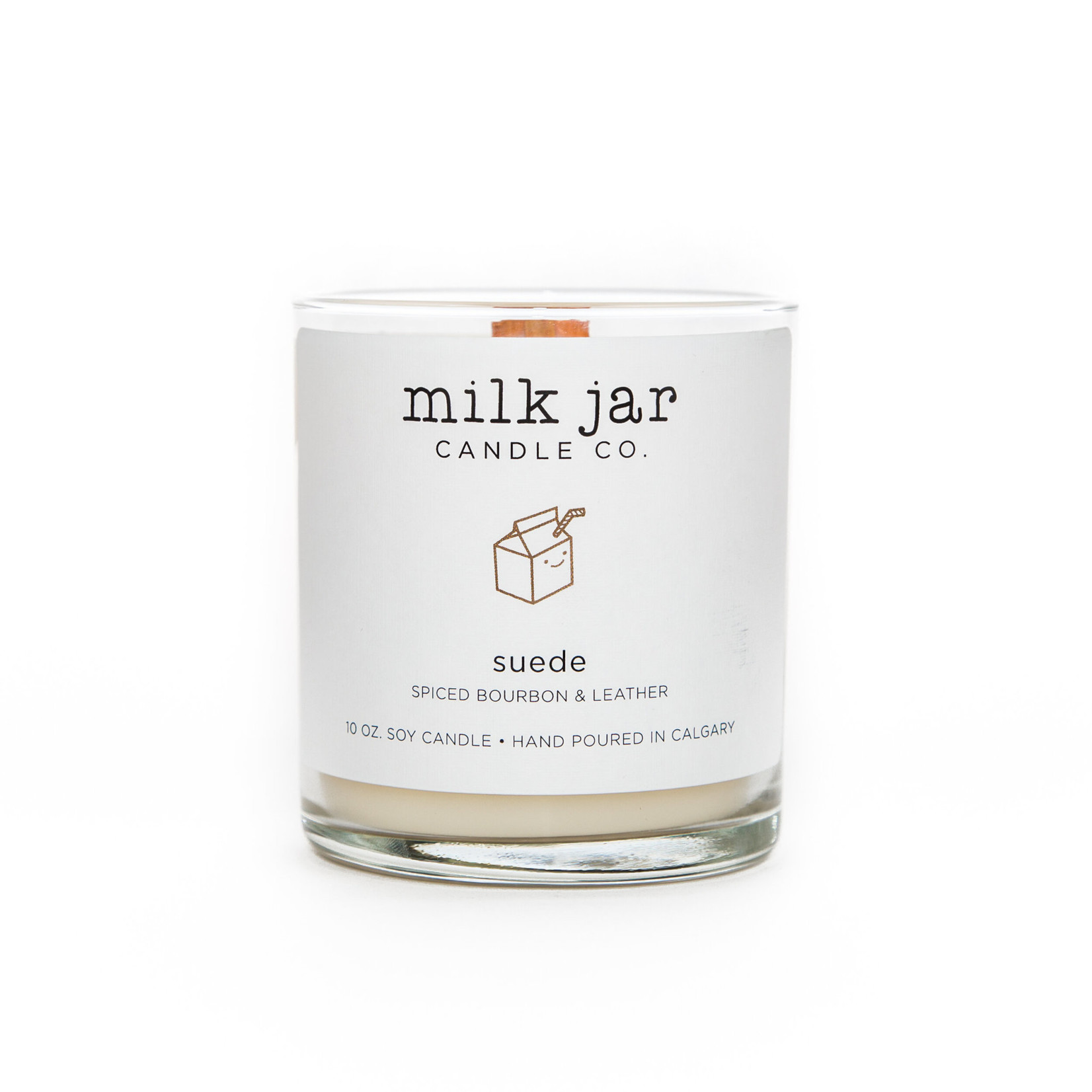 MILK JAR CANDLE CO. SUEDE CANDLE