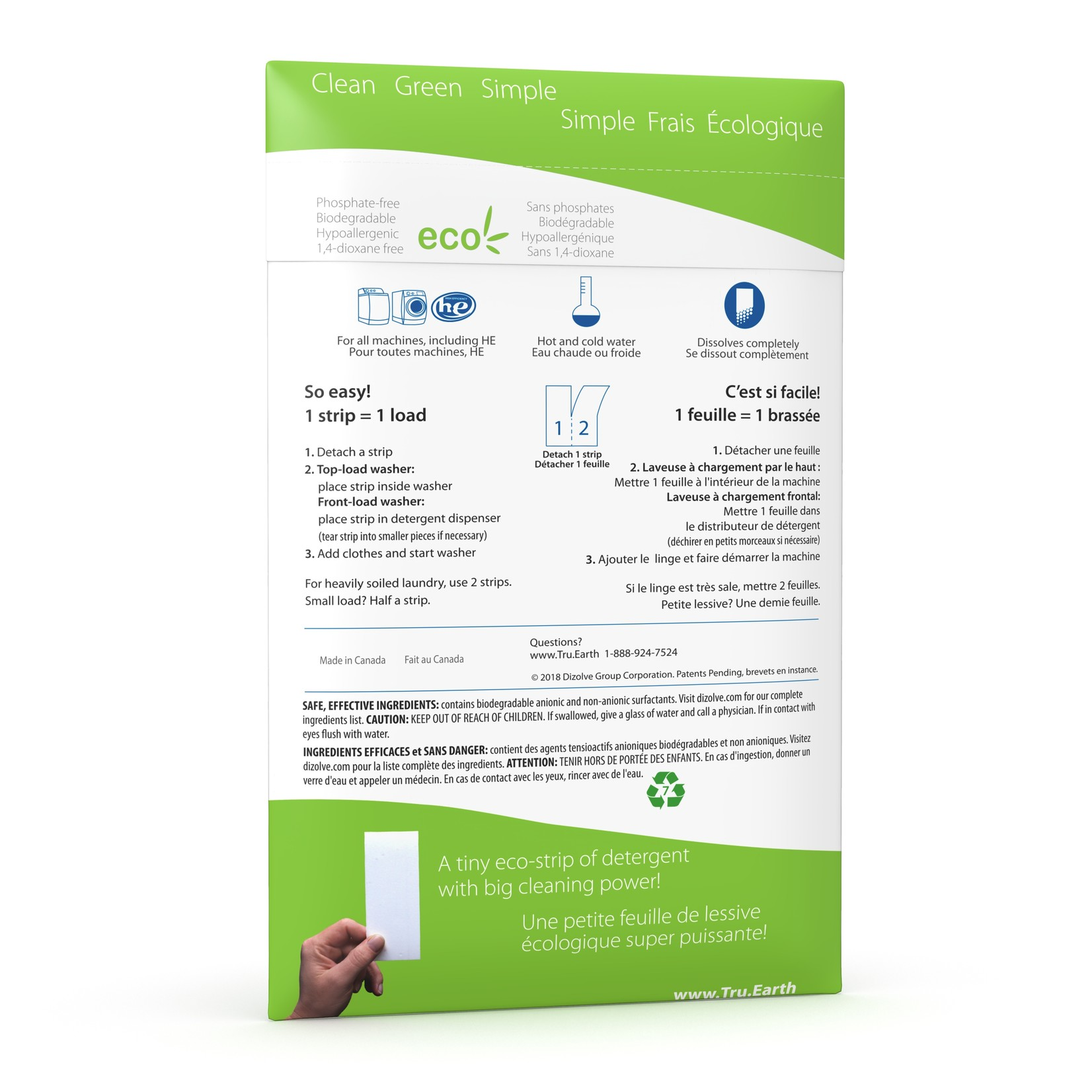 TRU EARTH ECO LAUNDRY STRIPS - UNSCENTED