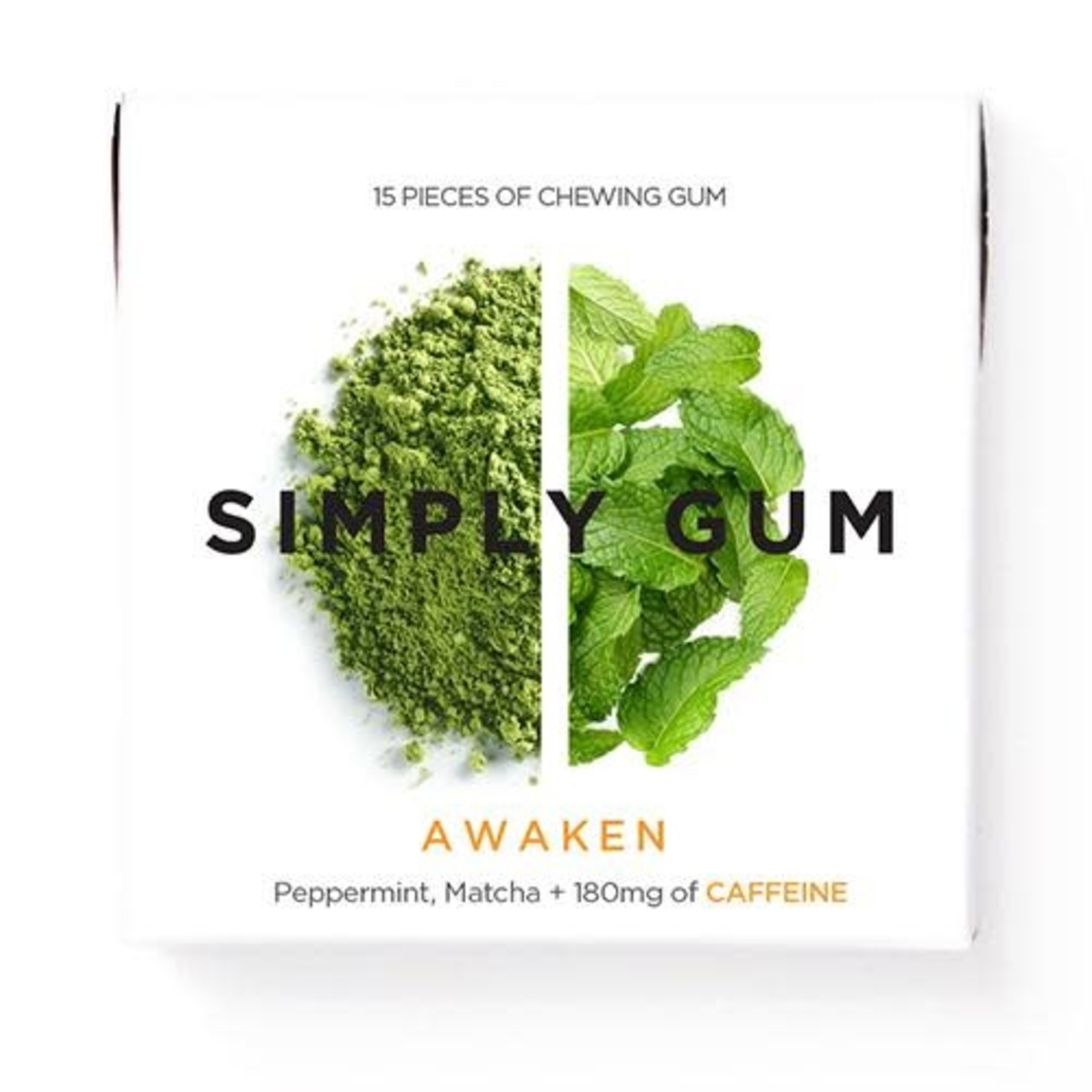 SIMPLY GUM AWAKEN GUM (CAFFEINE)