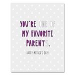 FAVORITE PARENT MOM CARD