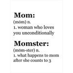 MOM MOMSTER CARD