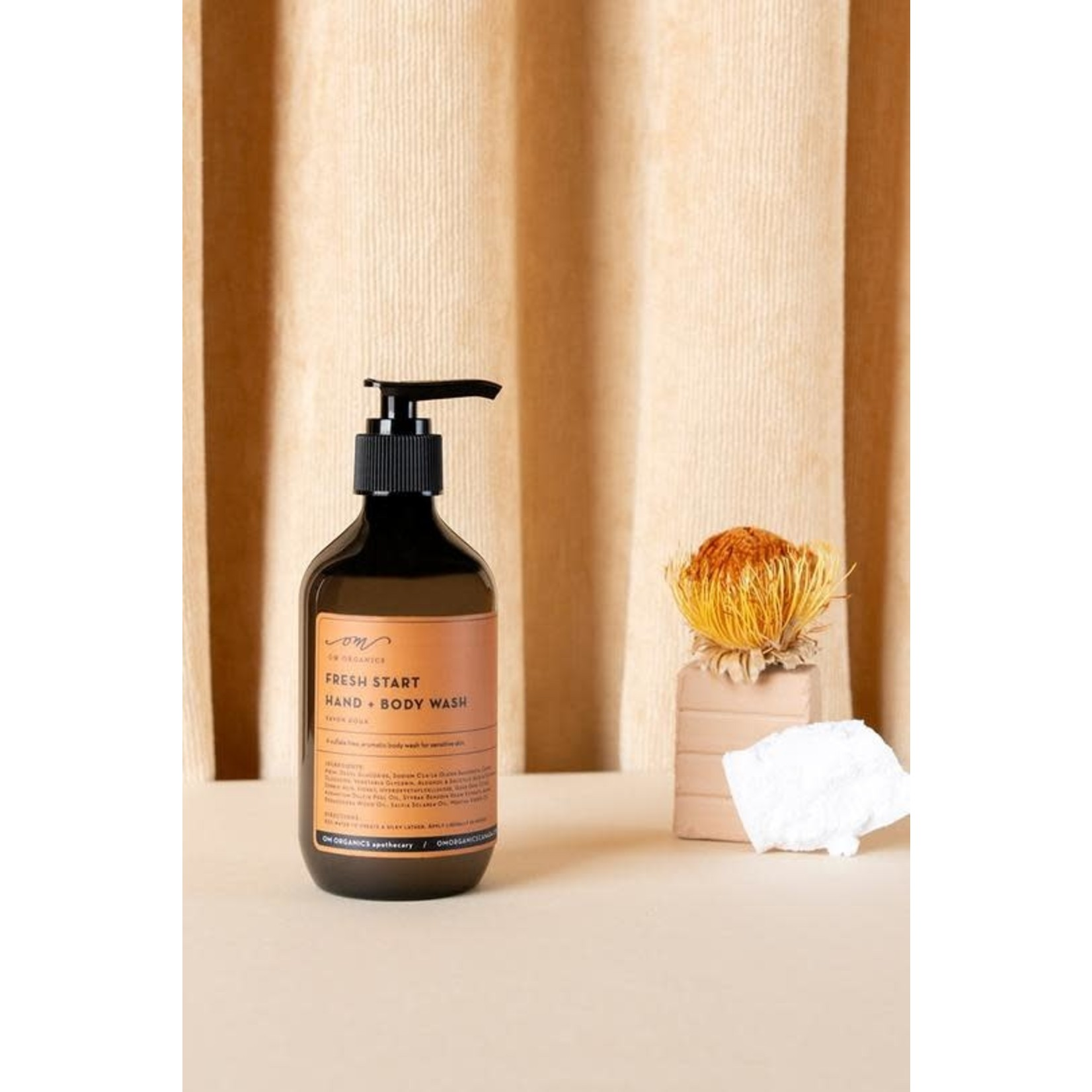OM ORGANICS FRESH START HAND + BODY WASH