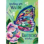 WARM WISHES BUTTERFLY CARD