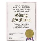 BIRTHDAY DECREE CARD