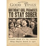 BIRTHDAY GIRL PROMISES CARD