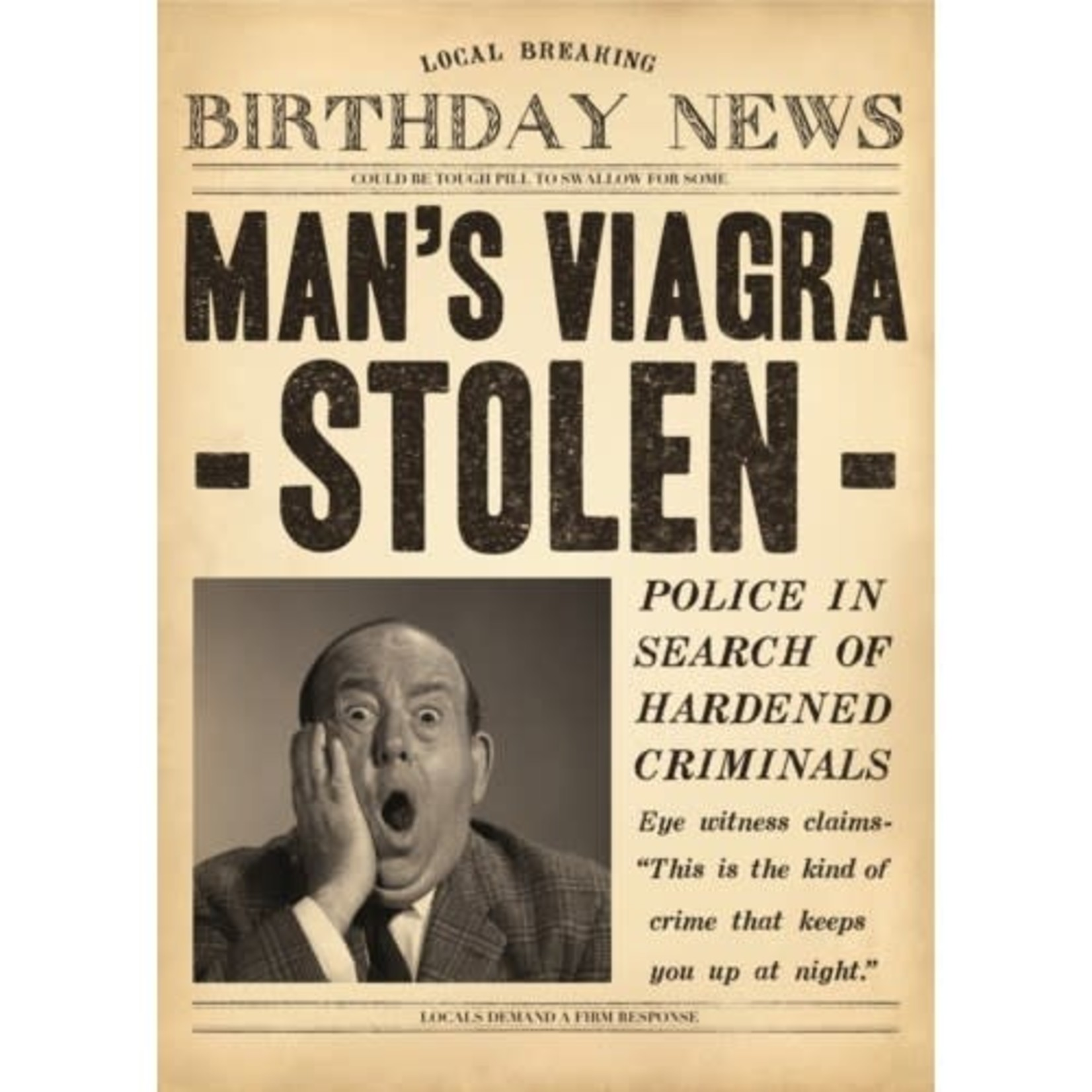 MAN'S VIAGRA STOLEN CARD