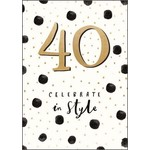 40 CELEBRATE IN STYLE CARD