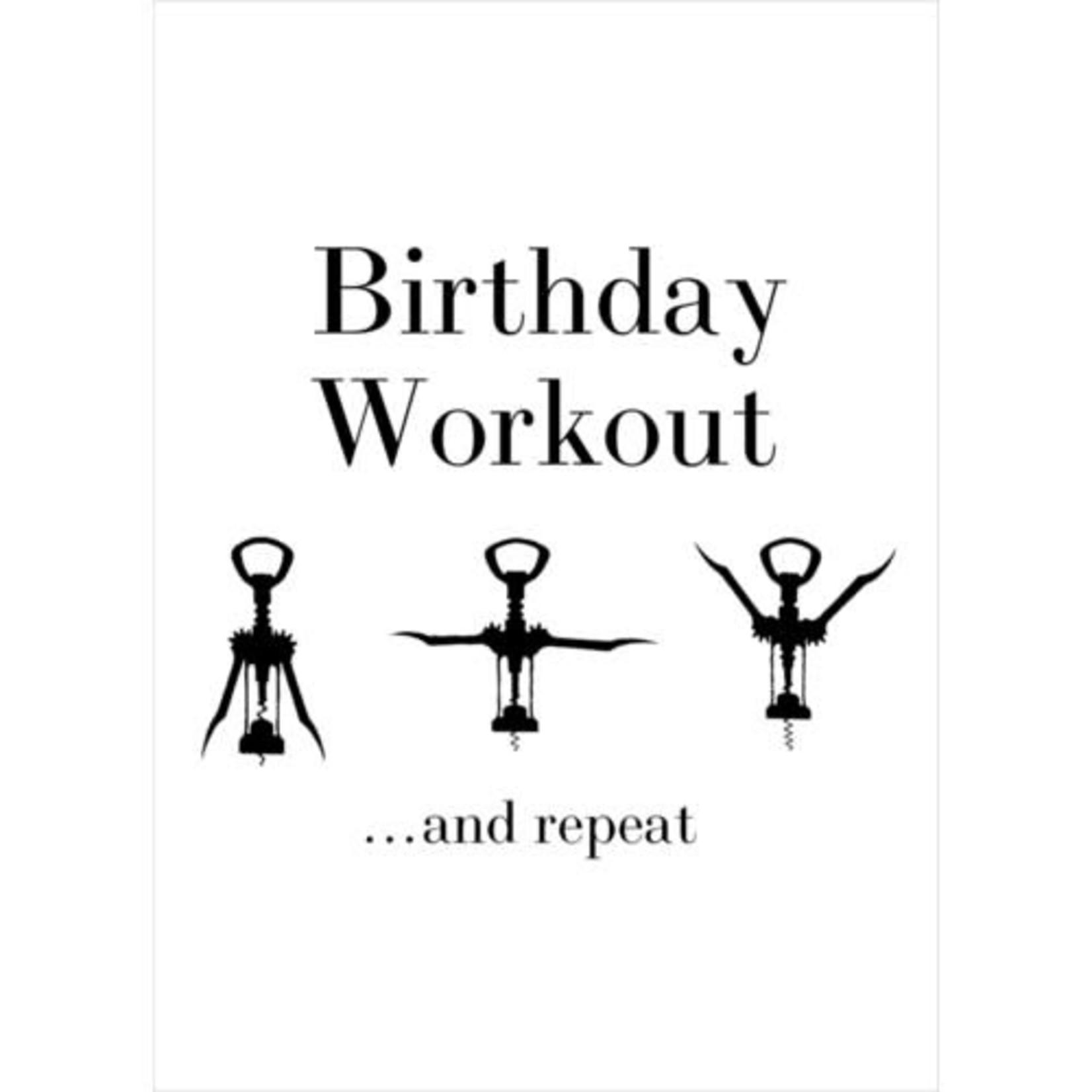 BIRTHDAY WORKOUT CARD