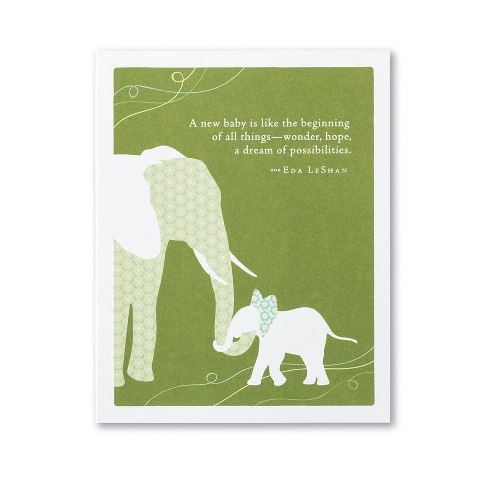 A NEW BABY IS LIKE CARD