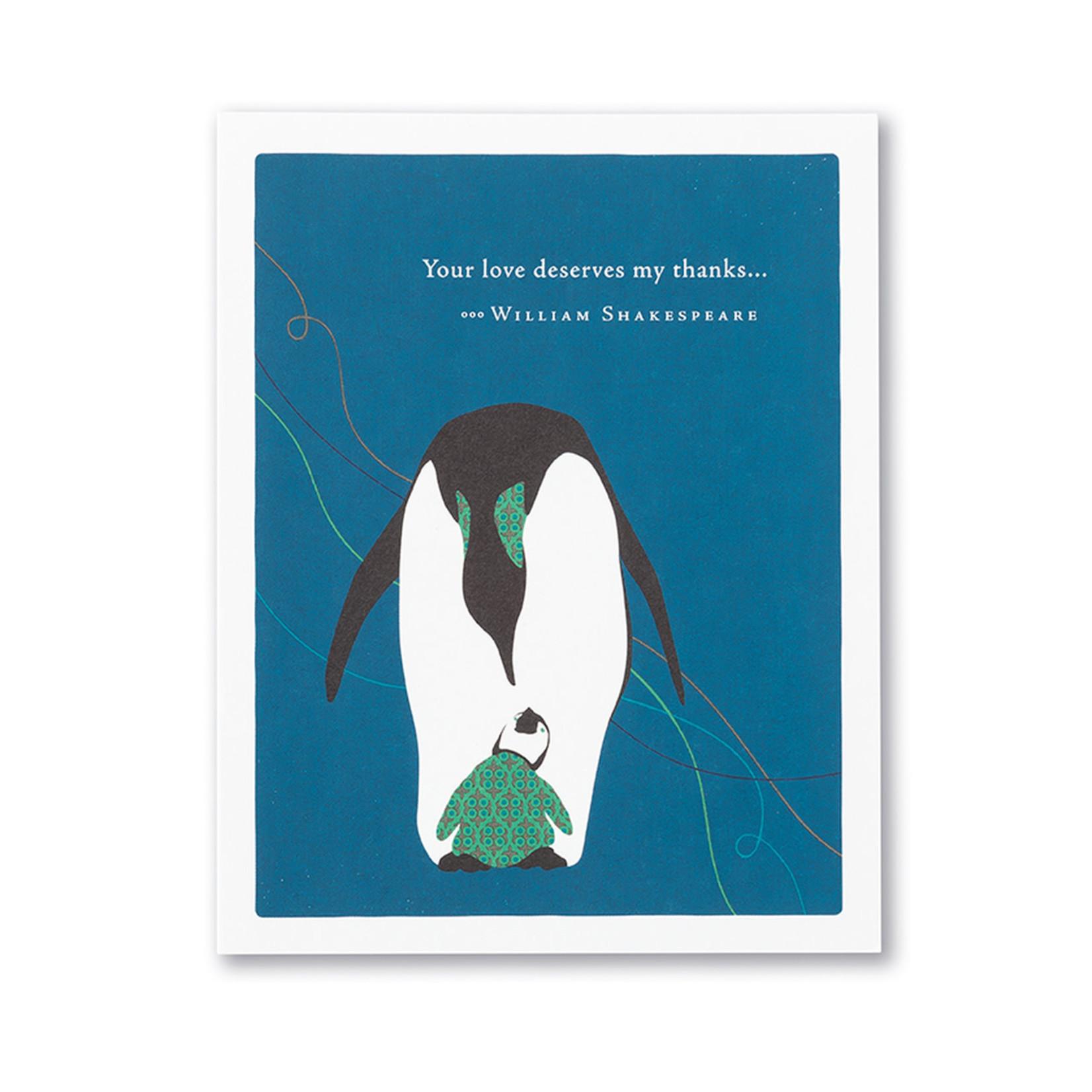 YOUR LOVE DESERVES CARD