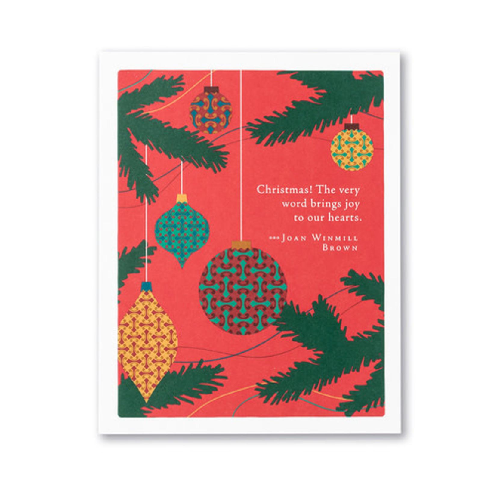 CHRISTMAS! THE VERY WORD CARD