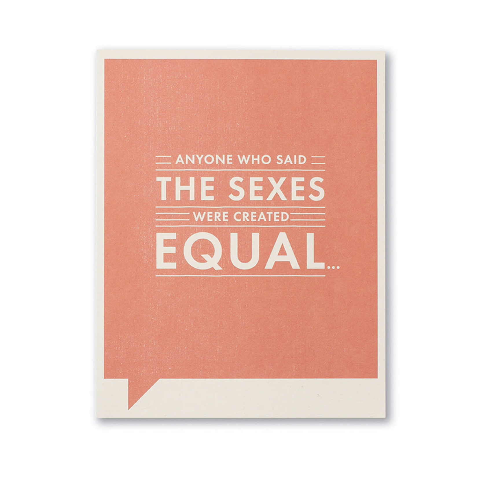 ANYONE WHO SAID THE SEXES CARD