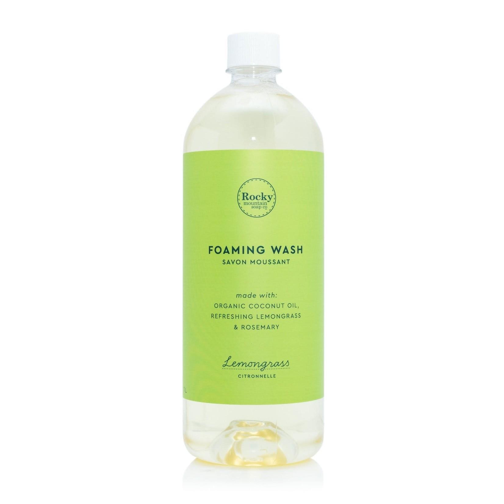 ROCKY MOUNTAIN SOAP CO. FOAMING WASH - LEMONGRASS