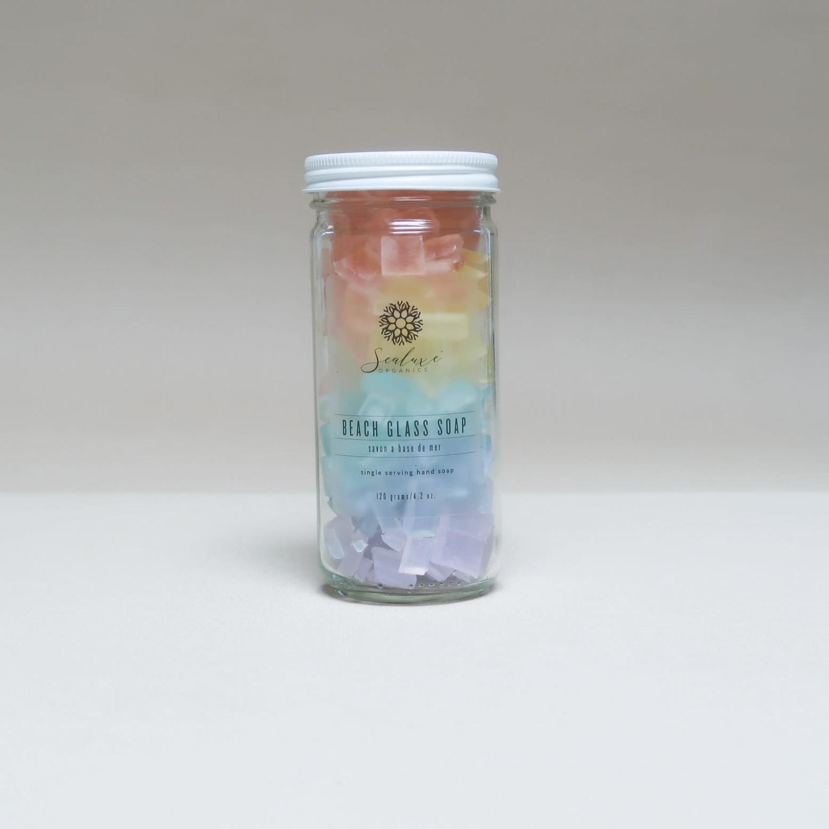 SEALUXE ORGANICS BEACH GLASS SOAP - RAINBOW