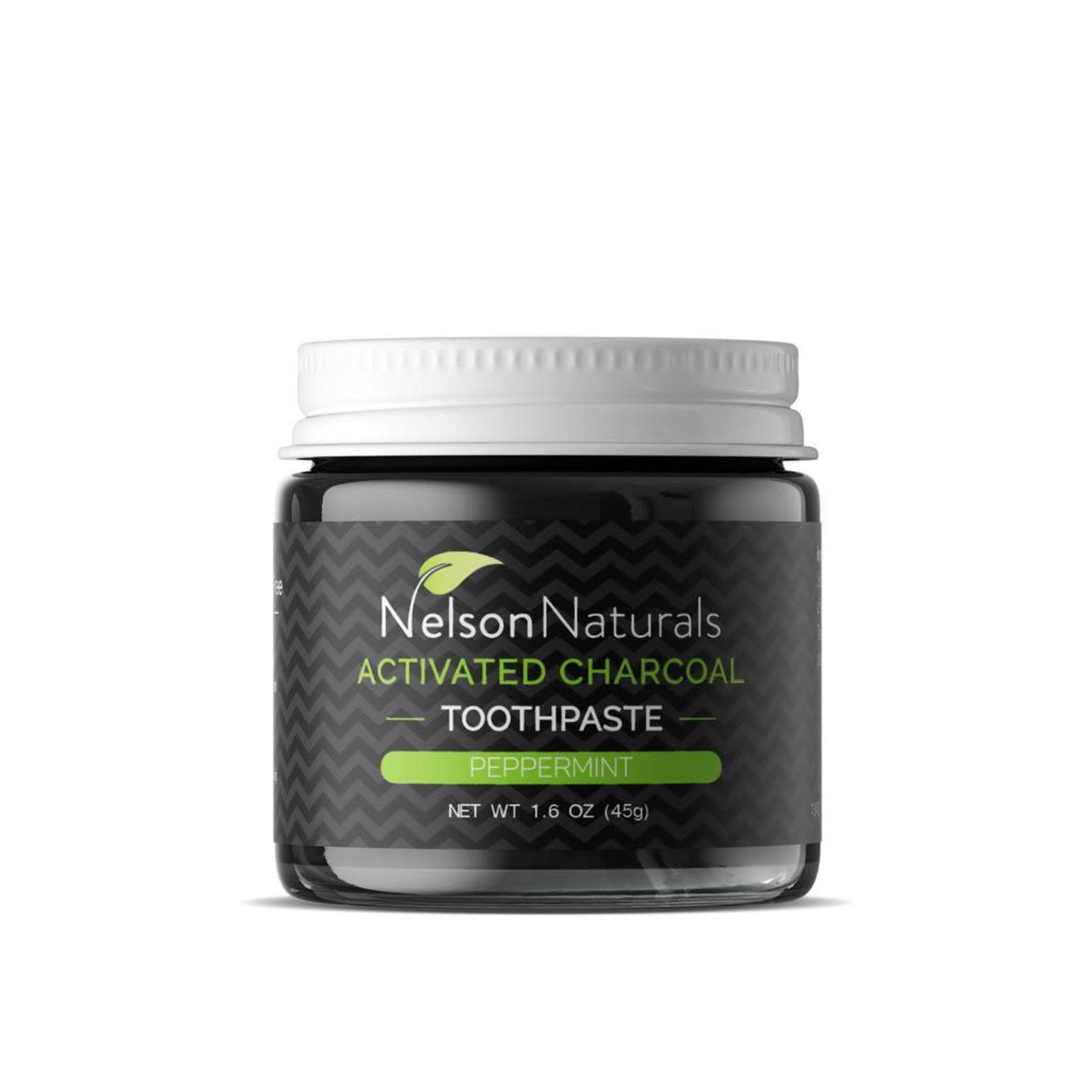 NELSON NATURALS TOOTHPASTE JAR - ACTIVATED CHARCOAL PEPPERMINT