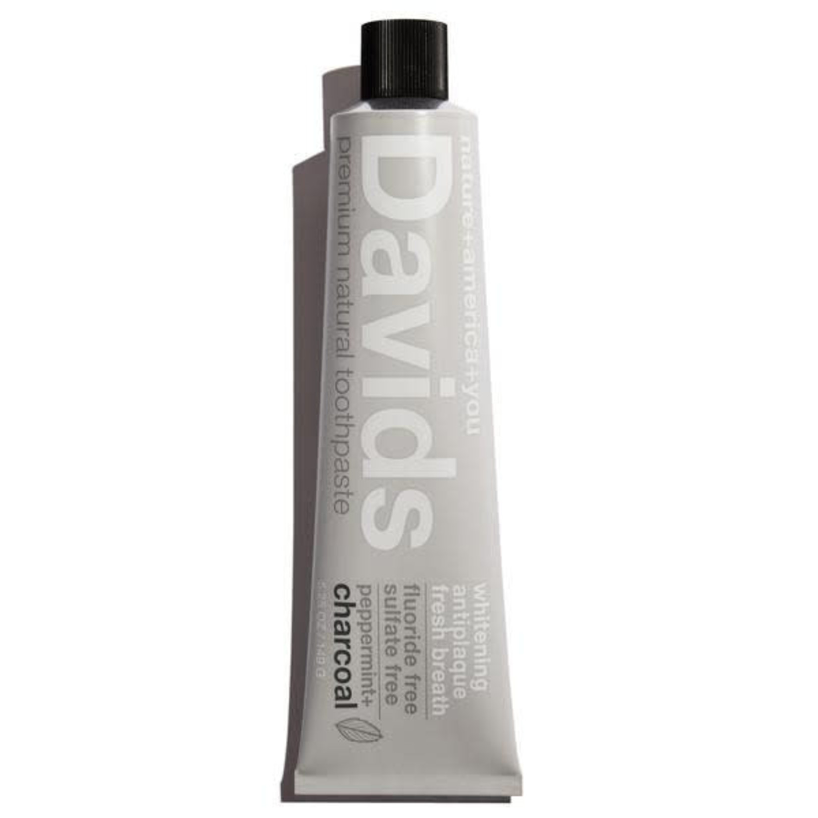 DAVIDS PREMIUM NATURAL TOOTHPASTE - PEPPERMINT + CHARCOAL