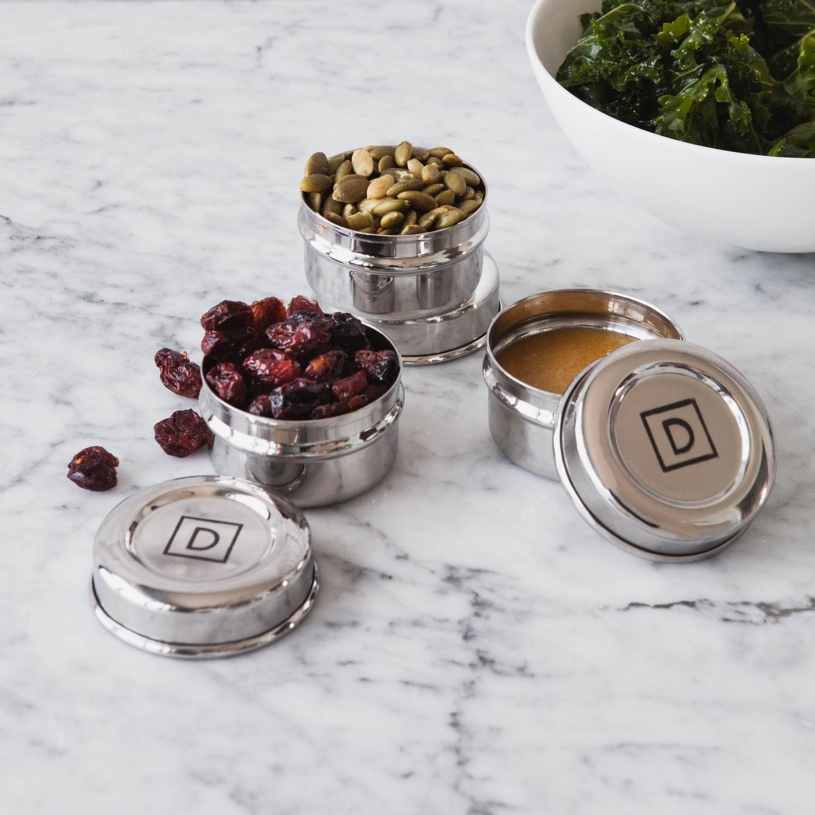 DALCINI STAINLESS CONDIMENT CONTAINER