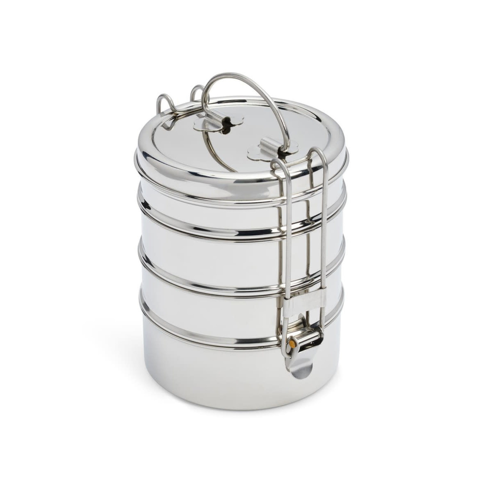 DALCINI STAINLESS 4-TIER STACKED FOOD STORAGE
