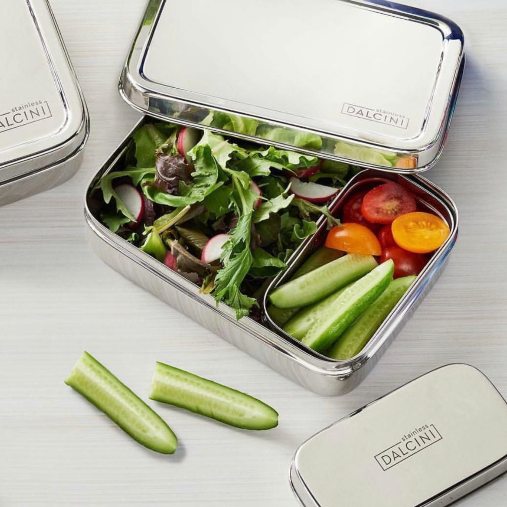 DALCINI STAINLESS 2-PIECE LUNCH SET