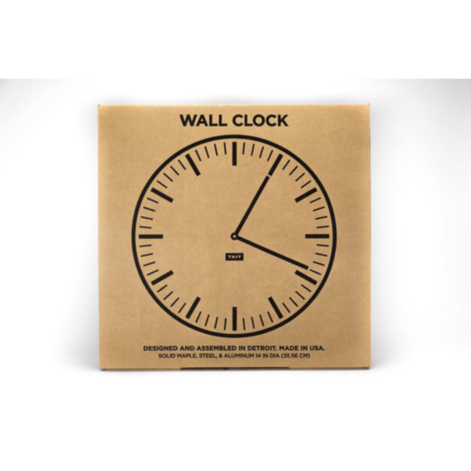 TAIT DESIGN CO. WALL CLOCK - TANGERINE