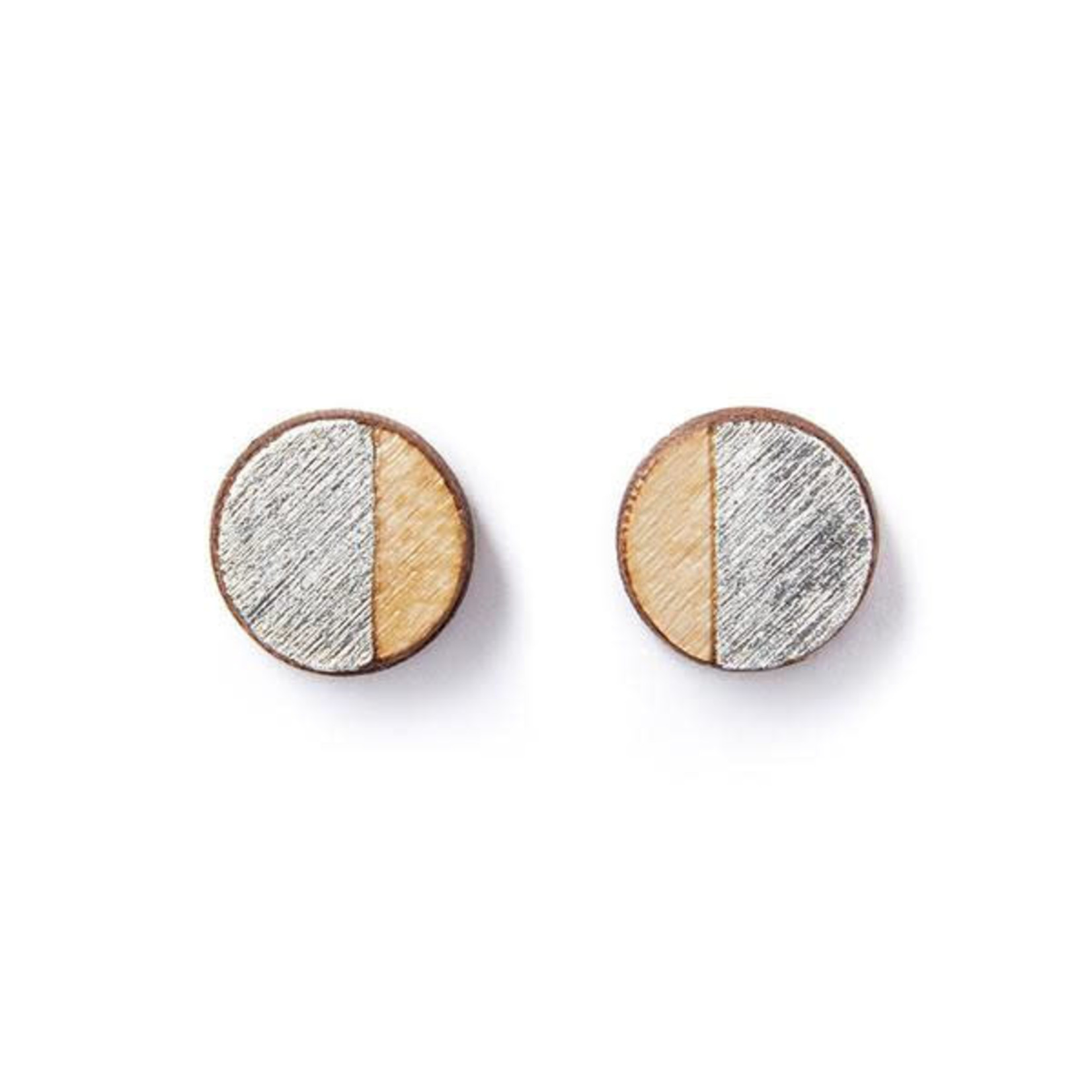 TREELINE AND TIDE ROUND STUDS - SILVER