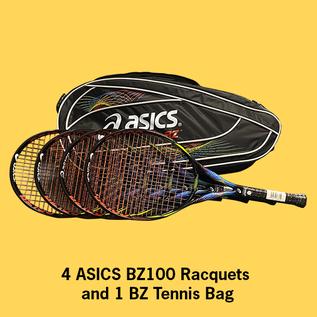 Asics BZ 100 4-Racquet Package w/BZ Bag