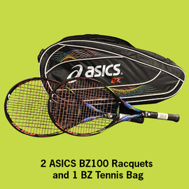 Asics BZ 100 2-Racquet Package w/BZ Bag