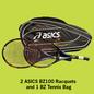 Asics BZ100 2-Racquet Package w/BZ Bag