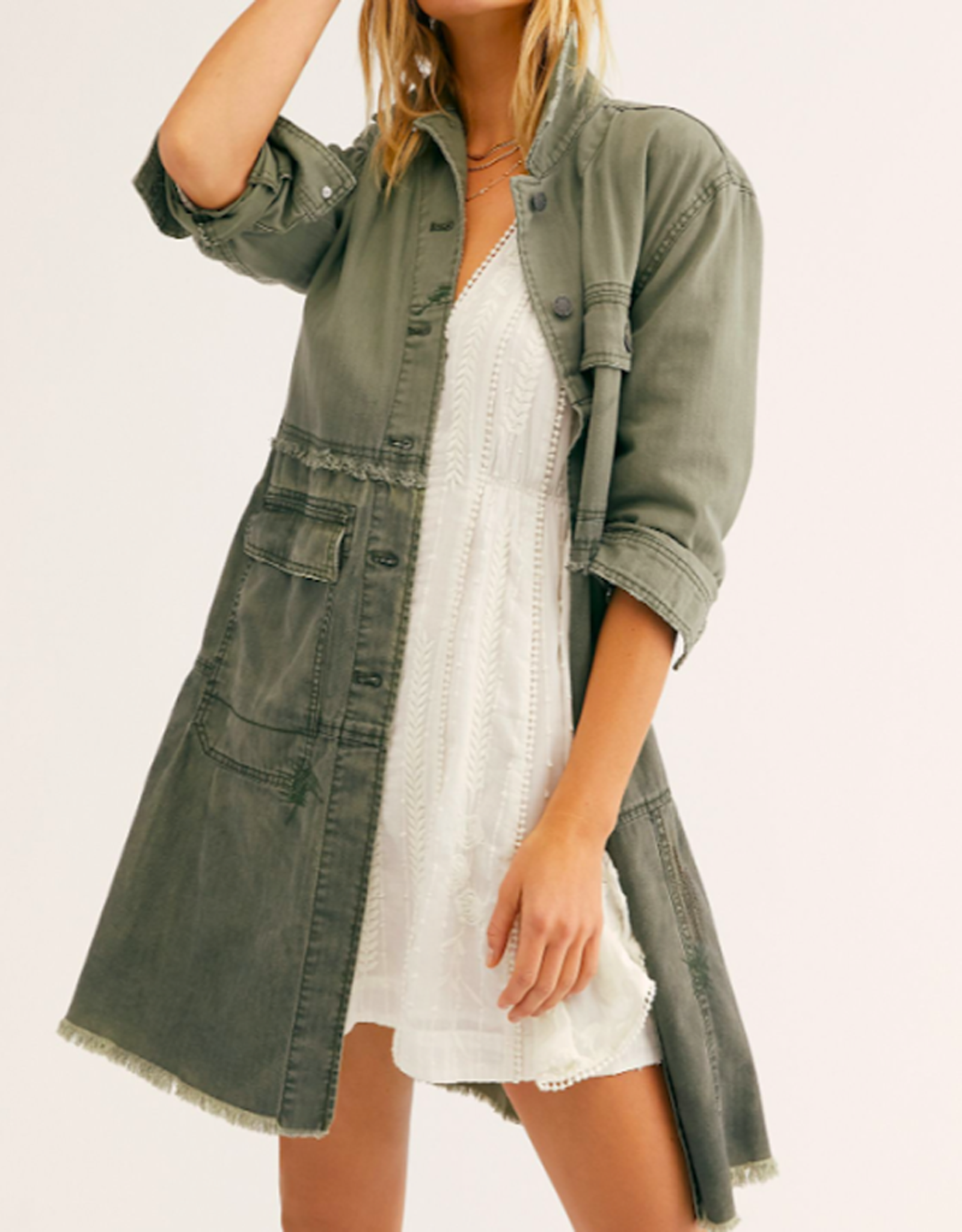 Free People OB1064879 Forever Free Tiered Jacket