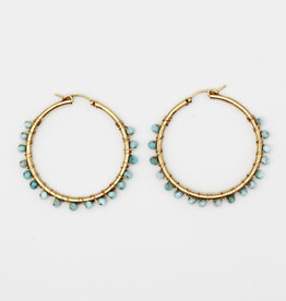 Karla Pattur Larimar Circle Hoops