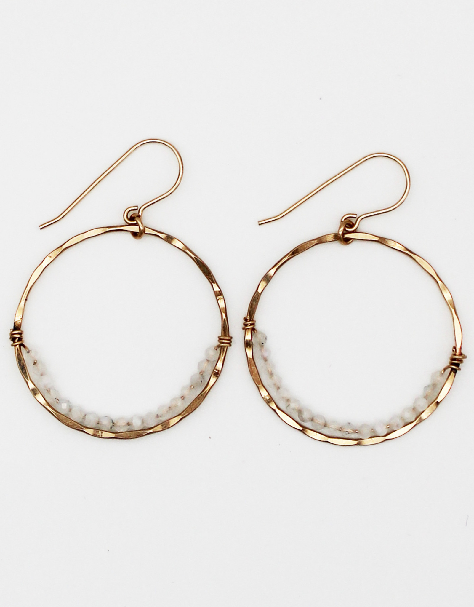 Amy Joy Jewelry AJ22 Moonstone Hoops