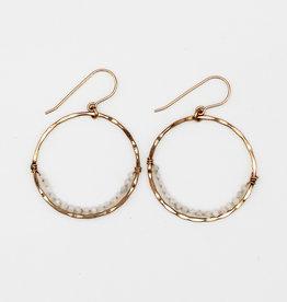 Amy Joy Jewelry Moonstone Hoops
