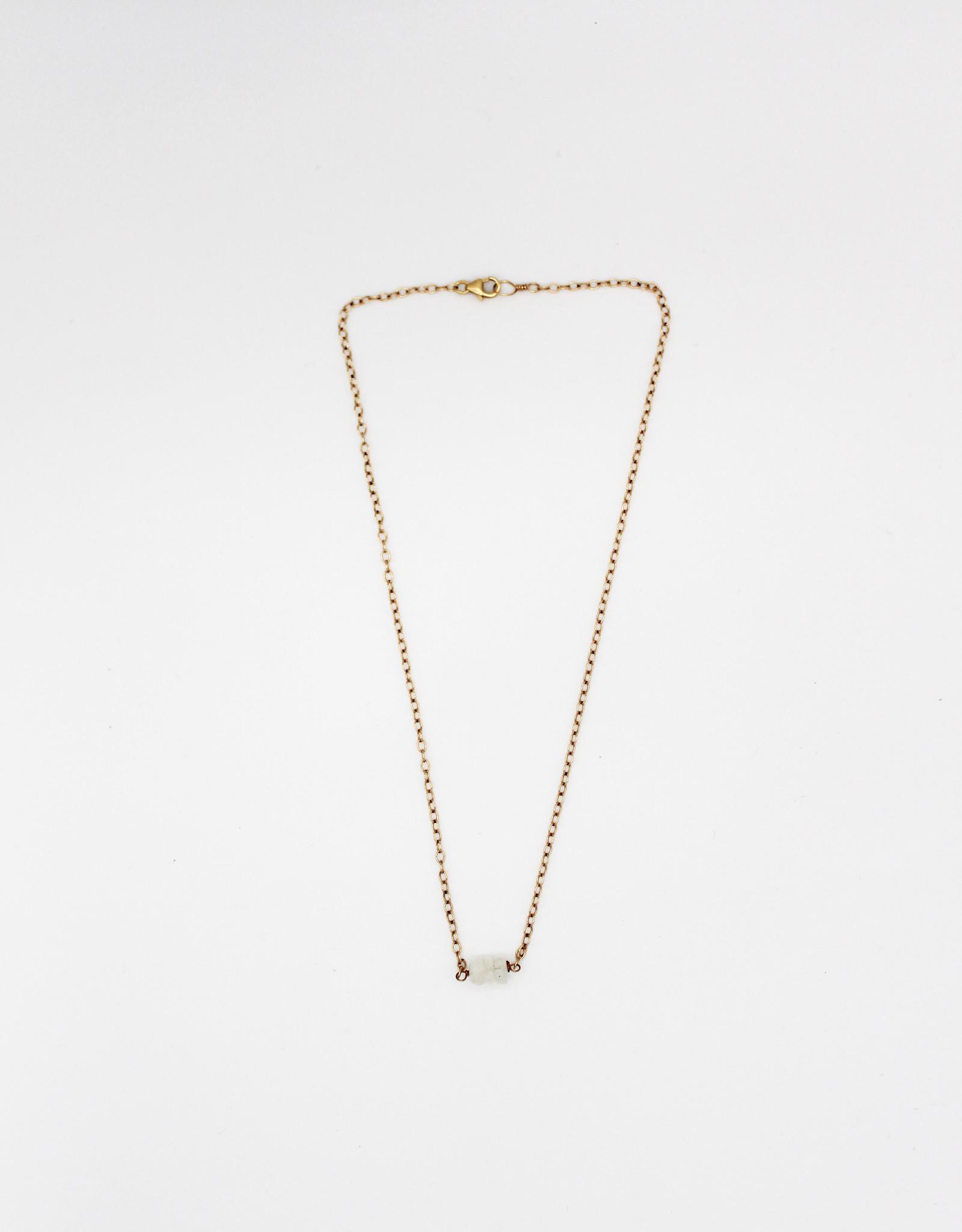 """Karla Pattur KP14 Moonstone Gold Fill 16"""" Necklace"""