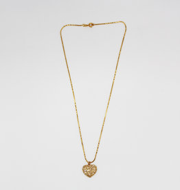 Madison Richey Heart With Flowers Necklace