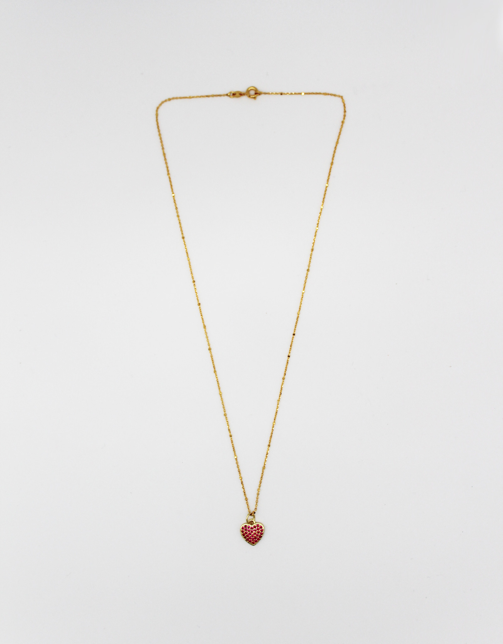 Madison Richey MR1 Gold Filled Pink Heart Necklace