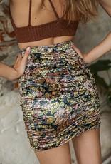 Free People OB1210229 Gigi Mini Printed Skirt