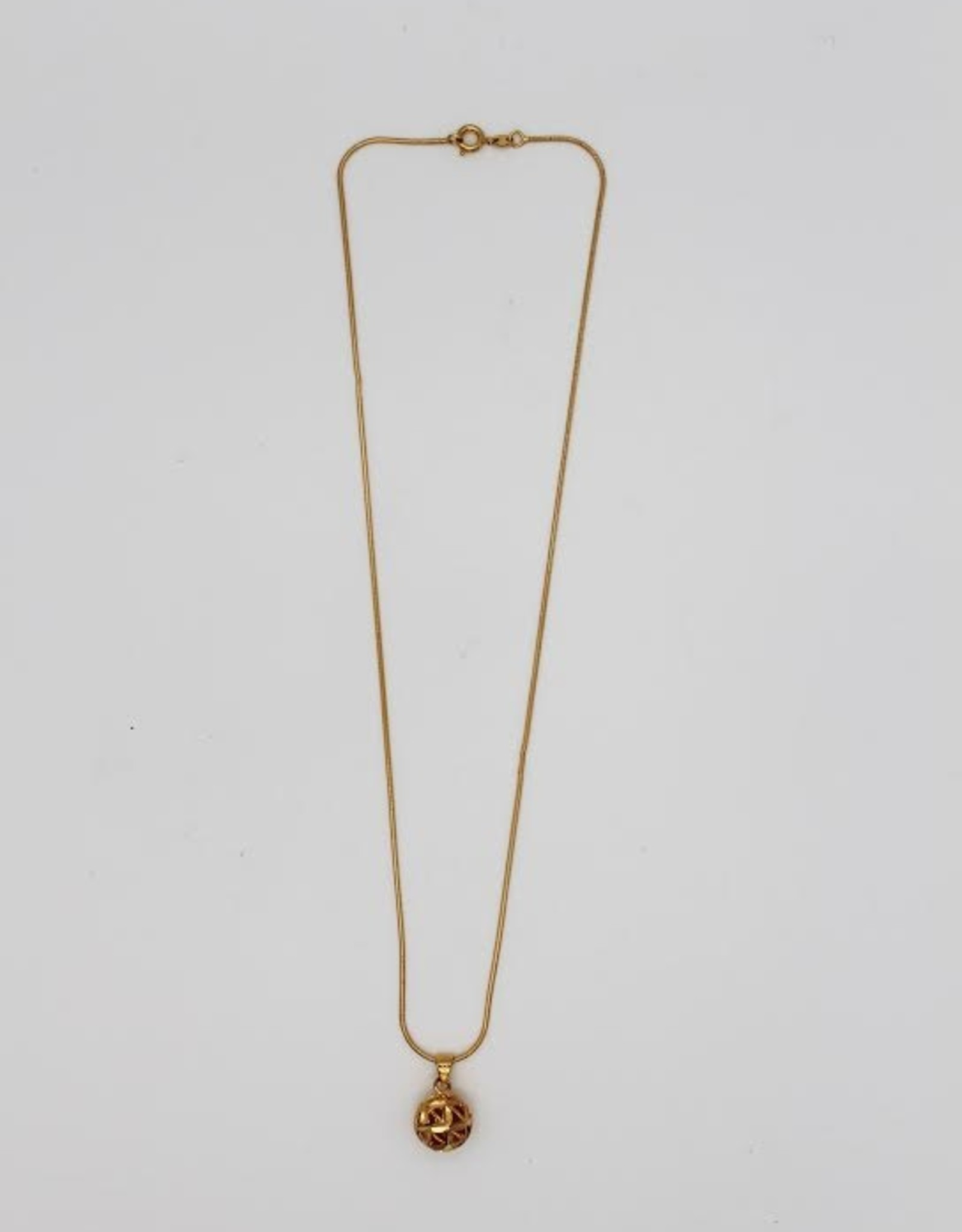 Madison Richey MR60 Gold Filled Flower Ball Necklace