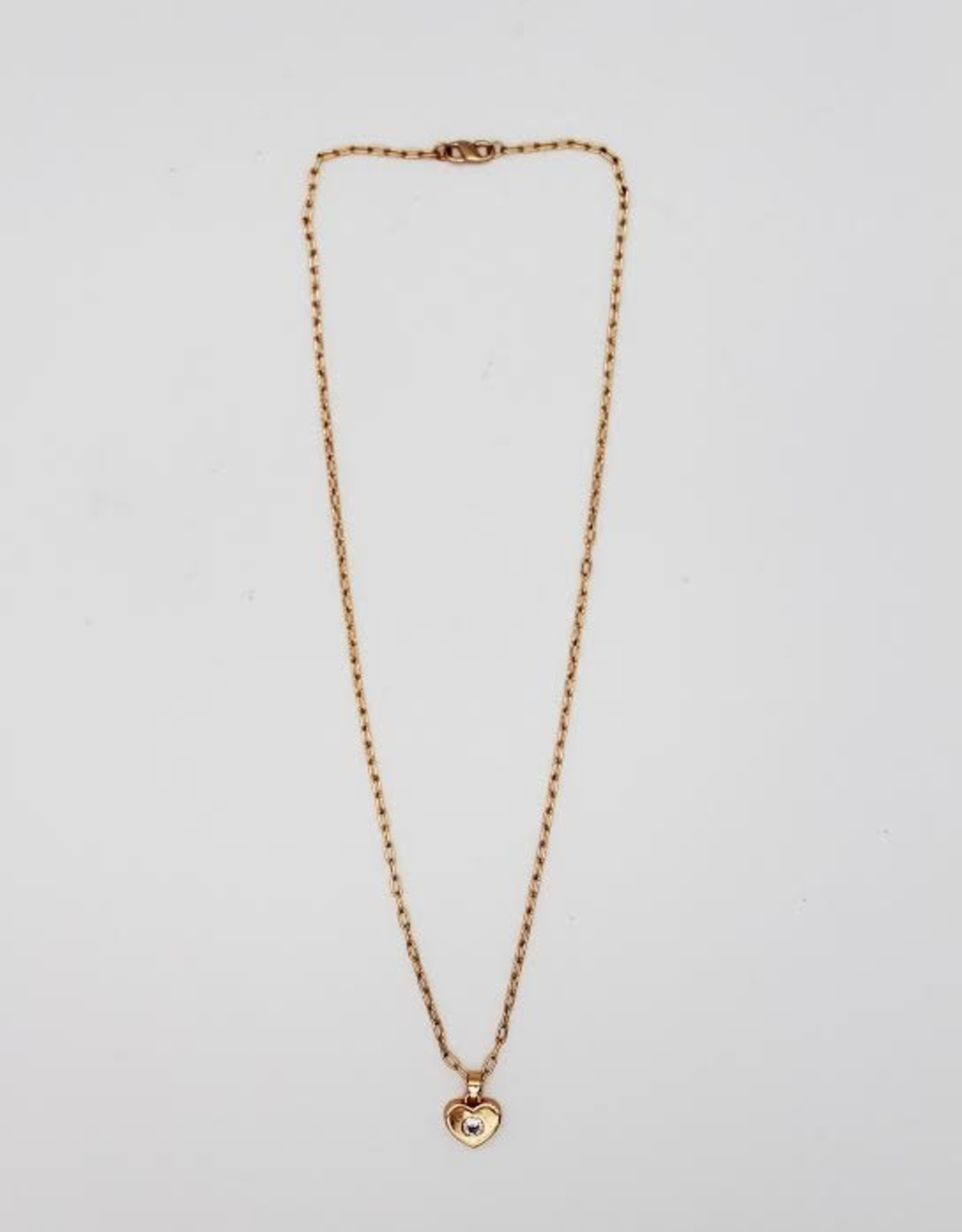 Madison Richey MR80 Gold Filled Rose Gold Chain Link With Heart Necklace