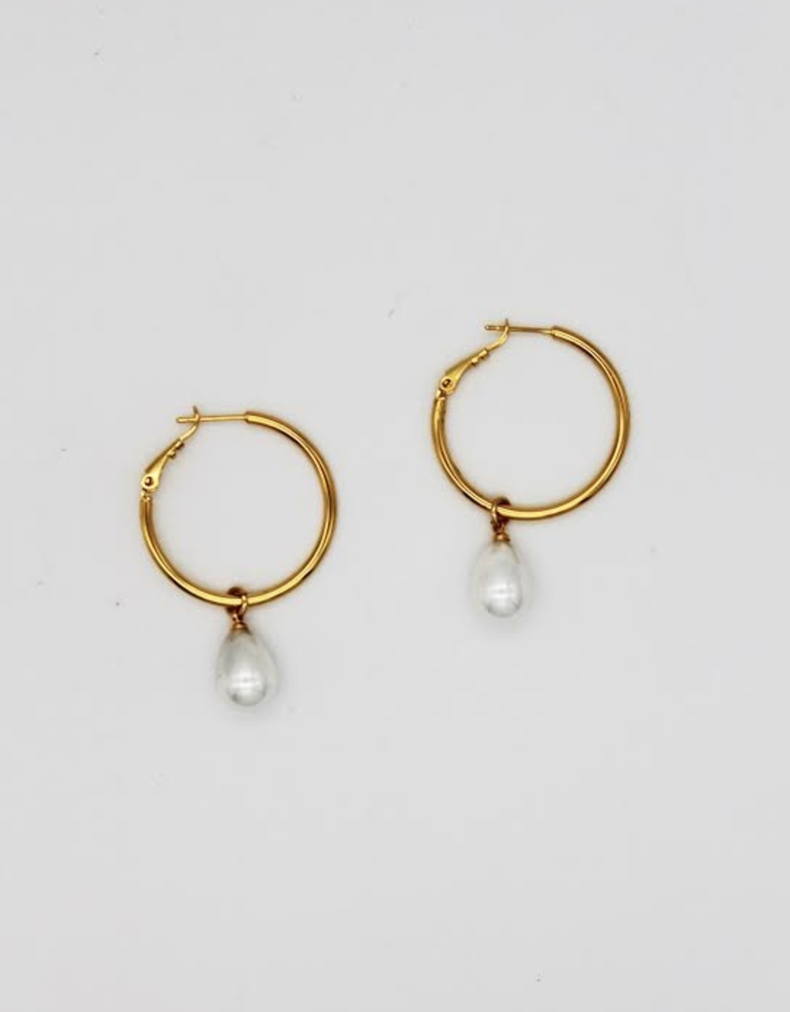 Madison Richey MR116 Gold Filled Big Pearl Hoops