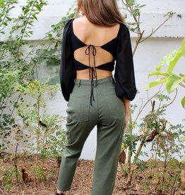 Beige Botany Cargo Pants