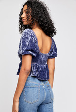 Free People OB1231649 Yours Truly Velvet Top