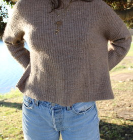 Olivaceous Crew Neck Sweater