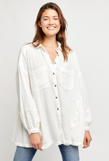 Free People OB1252139 Anaheim Double Cloth Top