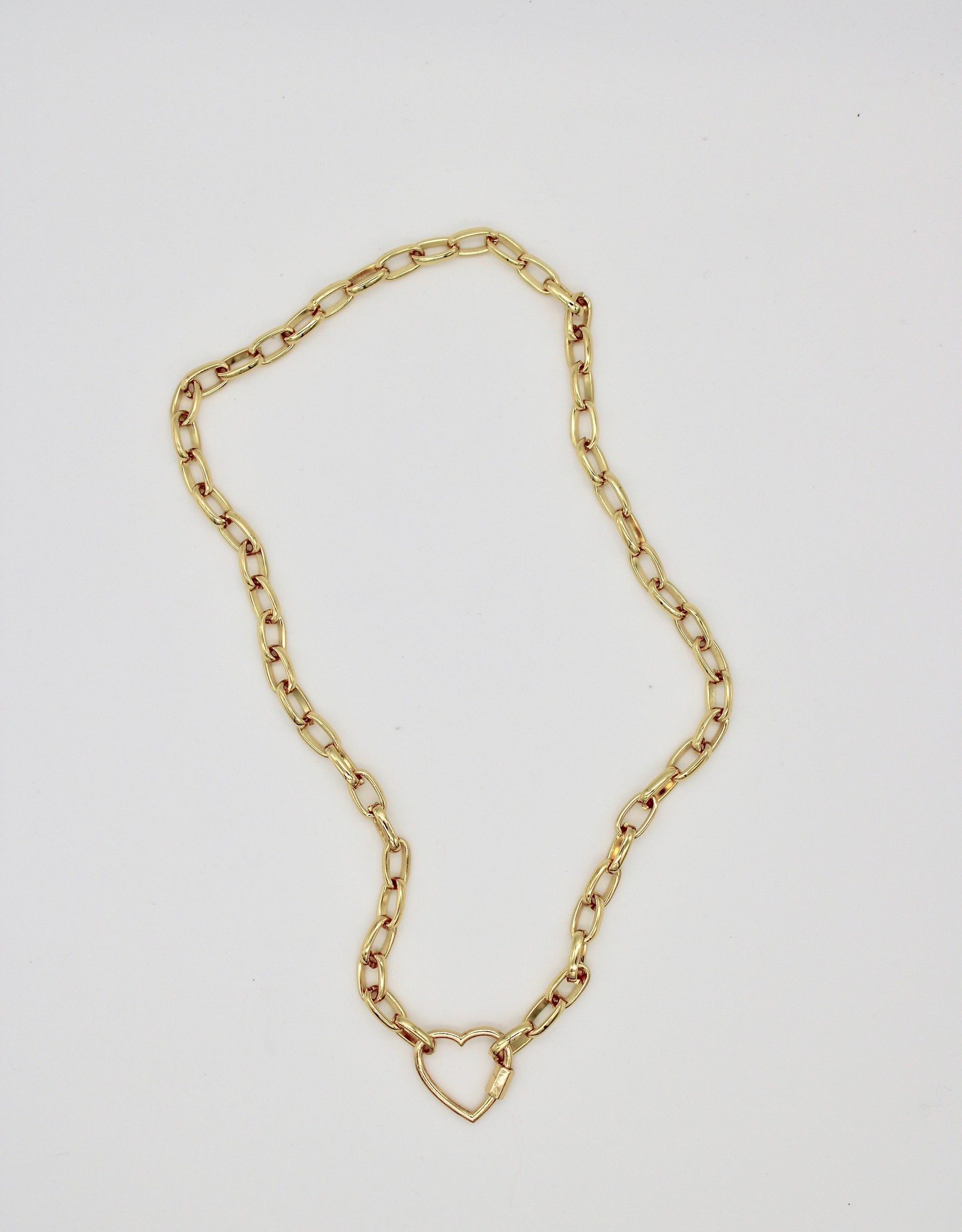 Madison Richey MR274 Thick Link Chain Heart