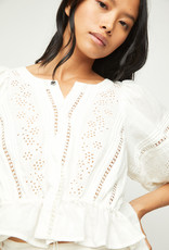 Free People OB1258392 Daisy Chains Eyelet Top